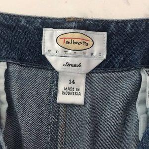 Indigo blue denim shorts